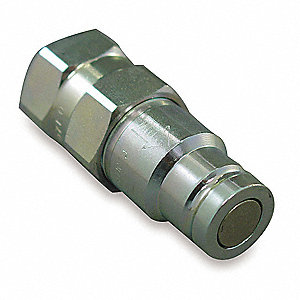 "3/4""-16 Steel Hydraulic Coupler Nipple"