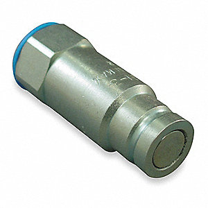 "1/2""-14 Steel Hydraulic Coupler Nipple, 3/8"" Body Size"