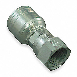 Hydraulic Hose Fitting,Crimp, Female SAE
