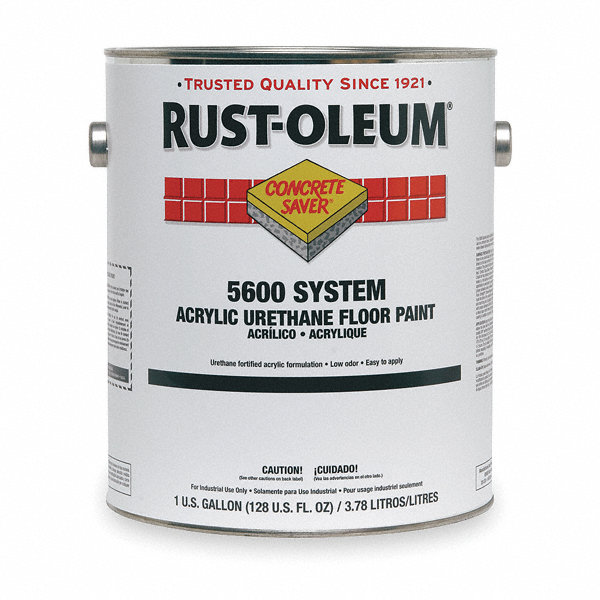 Rust Oleum Gloss Urethane Modified Acrylic Floor Paint Silver Gray 1 Gal 4vyg9 251291