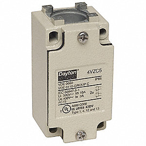 2NO/2NC 16 AWG Heavy Duty Limit Switch Body, AC Contact Rating: 10A @ 240VAC