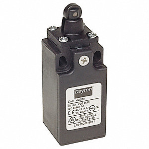 Limit Switch, 250AC Voltage Rating, 10 Amps, Top Actuator Location