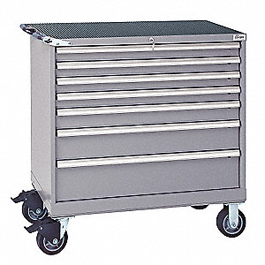Mobile Workbench Cabinet,440 lb.,Steel