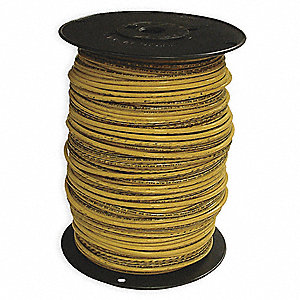 Stranded THHN Building Wire, Yellow, 500 ft. 10 AWG