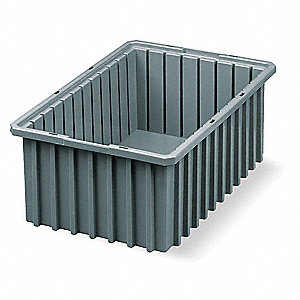 Divider Box,16-1/2 x 10-7/8 x 8 In,Gray