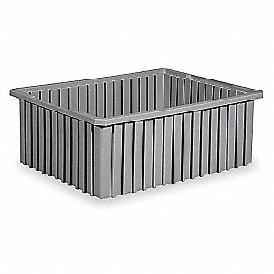 Divider Box,22-3/8 x 17-3/8 x 8 In,Gray