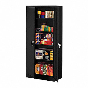 Storage Cabinet,Unassembled,Black