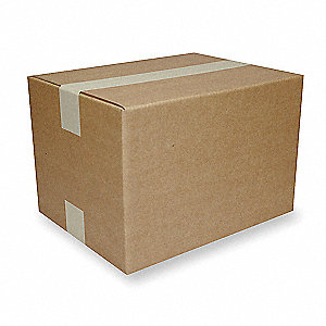 "Shipping Carton, Kraft, Inside Width 6"", Inside Length 12"", Inside Depth 5"", 65 lb., 1 EA"