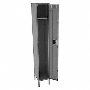 "Wardrobe Locker, Unassembled, One Tier, 15"" Overall Width"
