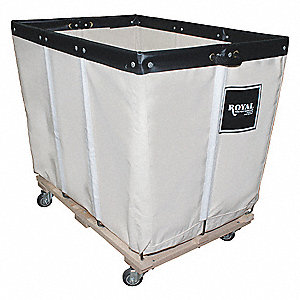 "White Canvas Basket Truck, 15.0 cu. ft., 600 lb., 36""L X 26""W X 34""H"