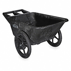 Big Wheel Cart, 1/4 cu. yd. Volume Capacity, 300 lb. Load Capacity, Heavy-Duty Hopper Type