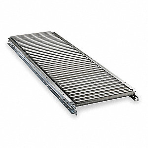 Roller Conveyor,5 ft. L, 10BF