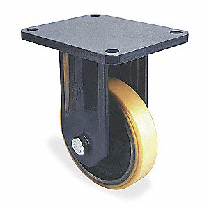 "6"" Medium-Duty Rigid Plate Caster, 1600 lb. Load Rating"