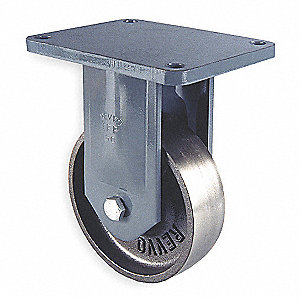 Plate Cstr,Rgid,Cast Iron,6 in.,2000 lb.