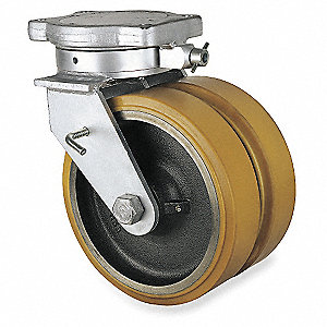 "12"" Extra Super Duty Kingpinless Swivel Plate Caster, 10,285 lb. Load Rating"