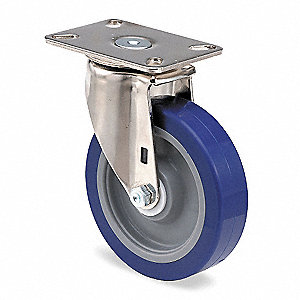 "4"" Plate Caster, 375 lb. Load Rating"