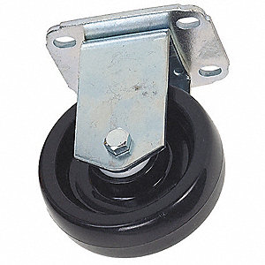 "3-1/2"" Plate Caster, 250 lb. Load Rating"