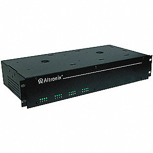 Steel Power Supply 16PTC 6-15VDC @ 4A Rack with Black Finish