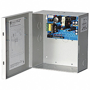 Steel Power Supply 4PTC 12VDC @ 5A with Grey Finish