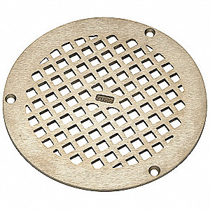 Nickel Nickel Replacement Grate Pipe Dia., Screw Connection - Drains