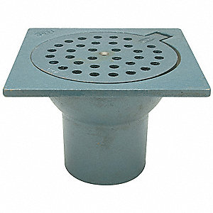Zurn Cast Iron Round Floor Drain Inside Caulk Pipe Dia