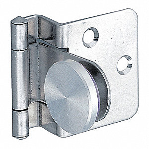 "1-17/64"" x 1-29/64"" Stainless Steel Lift-Off Hinge With Holes and 4.4 lb. Load Capacity"