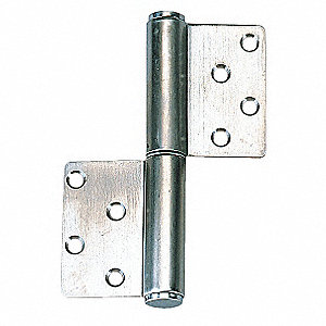 Lift-Off Hinge,Satin,5 x 3-35/64 In.