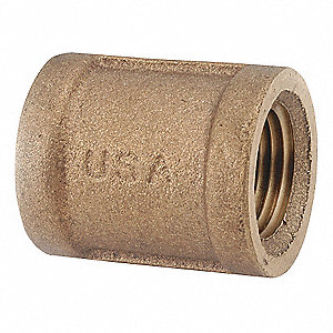 "Brass Coupling, FNPT, 1"" Pipe Size,  1 EA"