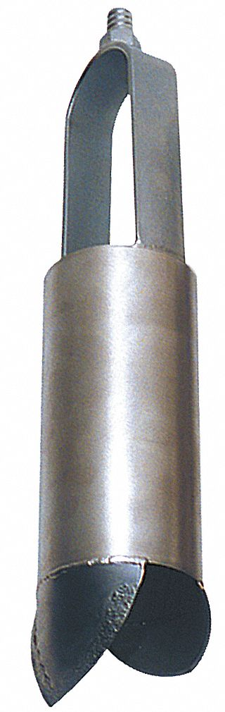 Auger,  1 1/2 in Dia. (In.),  Stainless Steel Bail, Stainless Steel Cylinder,  5/8 in Thread