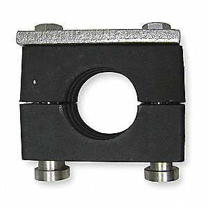 "Rail Mount Tube Clamp Kit, 1"" Tube Size, Steel"