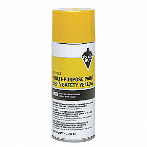 OSHA Safety Yellow Spray Paint, Gloss Finish, 12 oz.