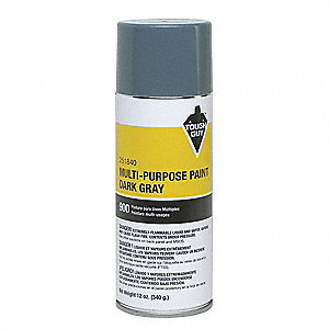 Spray Paint in Gloss Machinery Gray for Masonry, Metal, Wood, 12 oz.