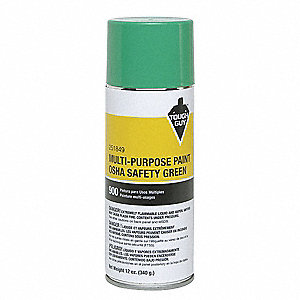 OSHA Safety Green Spray Paint, Gloss Finish, 12 oz.