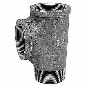 "Street Tee, FNPT x MNPT x FNPT, 1/2"" Pipe Size - Pipe Fitting"