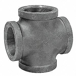 "Cross, FNPT, 3"" Pipe Size - Pipe Fitting"