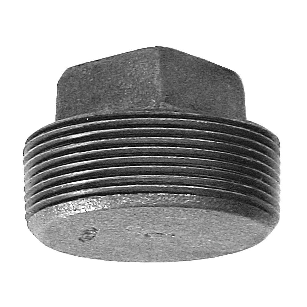 "1//4/"" BLACK MALLEABLE IRON PLUG fitting pipe npt"