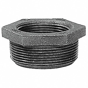 "Hex Bushing, FNPT x MNPT, 2-1/2"" x 1-1/4"" Pipe Size - Pipe Fitting"