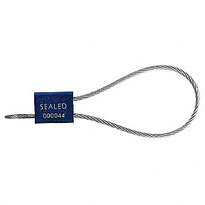 SECURITY SEALS,CBL,12IN,BLUE,PK200