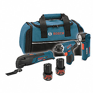 Cordless Combination Kit, 12.0 Voltage, Number of Tools 3
