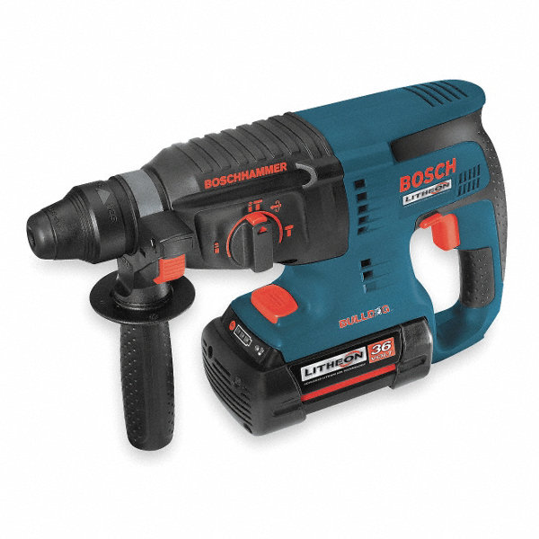 bosch cordless rotary hammer kit 36 0 voltage 0 to 4260 blows per minute battery included. Black Bedroom Furniture Sets. Home Design Ideas
