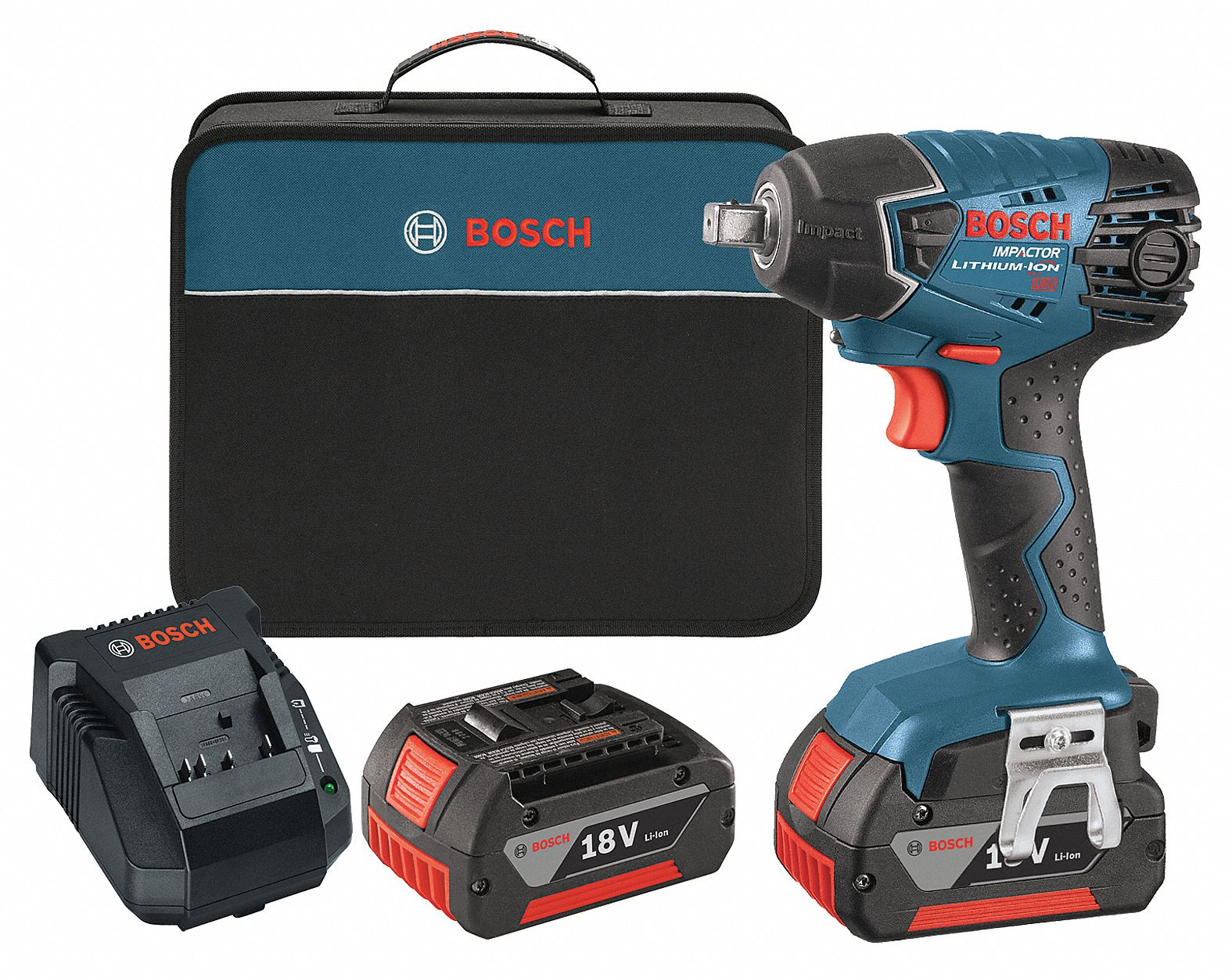 Bosch 1 2 Cordless Impact Wrench Kit 18 0 Voltage 133 Ft Lb Max Torque Battery Included 4wlk7 24618 01 Grainger