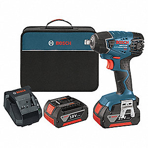 "1/2"" Cordless Impact Wrench Kit, 18.0 Voltage, 133 ft.-lb. Max. Torque, Battery Included"