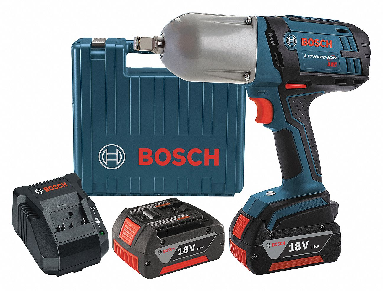 Bosch 1 2 Cordless Impact Wrench Kit 18 0 Voltage 500 Ft Lb Max Torque Battery Included 4wlk8 Iwht180 01 Grainger