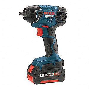 "3/8"" Cordless Impact Wrench Kit, 18.0 Voltage, 133 ft.-lb. Max. Torque, Battery Included"