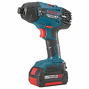 "1/4"" Cordless Impact Driver Kit, 18.0 Voltage, 1500 In.-lb. Max. Torque, Battery Included"