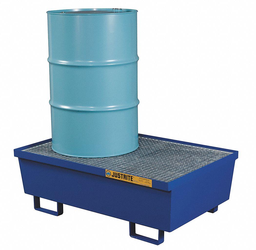 Justrite Drum Spill Containment Platform Blue 2 Drum 72