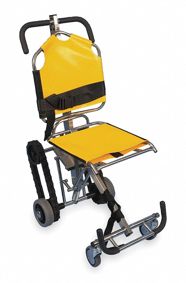 Stainless Steel Stair Chair with 350 lb Weight Capacity, Yellow