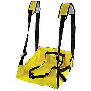 Rescue Seat,20-1/2 In W,1 In H,Yellow