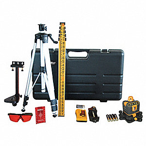 Manual Leveling Rotary Laser Level, Horizontal and Vertical, Interior and Exterior