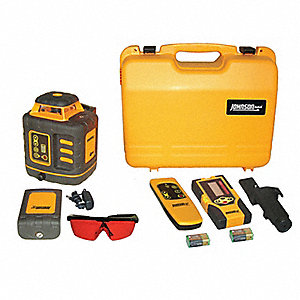 Electronic Self-Leveling Rotary Laser Level, Horizontal and Vertical, Interior and Exterior